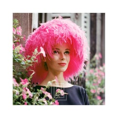 Mod Girl, Pink Marabou Hat, 1958