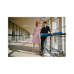 Mod Girl, Pink Suit, Lincoln Center, 1962