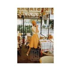 Model in Yellow in Paris Café, 1957