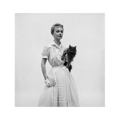 Model with Grey Persian Cat, 1954
