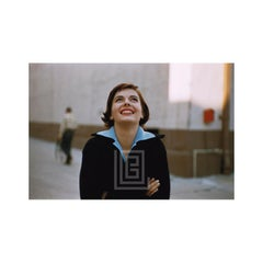 Natalie Wood Backlot Portrait in Black Sweater, 1956