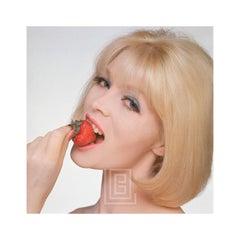 Nico with Strawberry, Close Up, 1960
