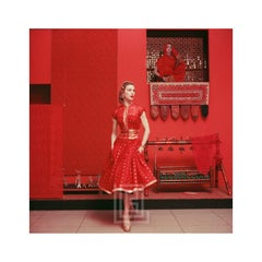 Red Sari Dress in Red Room at  MOMA, 1955