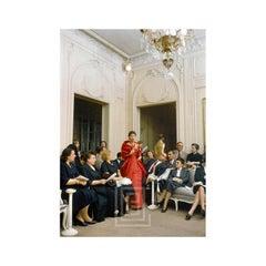 Salon Dior Man Agog Red Gown, 1954