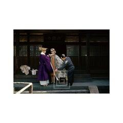 Tiger Morse and Buddhist Priest, Kyoto, 1962