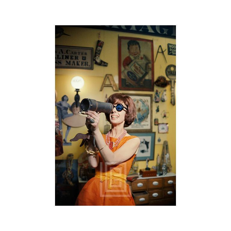 Tiger Morse in Orange, Antiques 01, New York, 1962