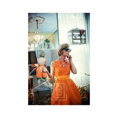 Tiger Morse in Orange on Phone 10, New York, 1962