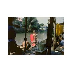 Tiger Morse in White on Boat, 1962