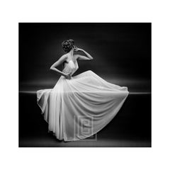 Vanity Fair Sheer Gown Left Arm Up, Circa 1955
