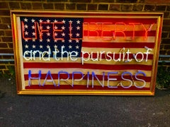 1912 vintage USA 46 star flag Original from NYC harbour by the Neon God Sloper