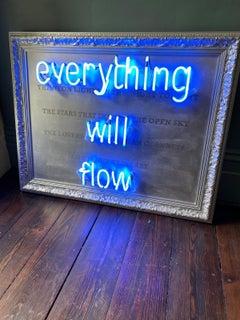 Everything Will Flow Neon Saatchi Art Original lighting
