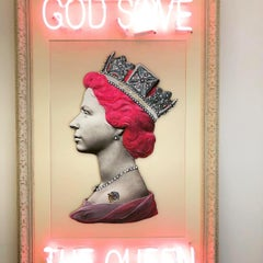 God Save the Queen neon original signed