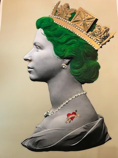 Green Queen Limited edition print Signed Jewel embellished tattoo phillip
