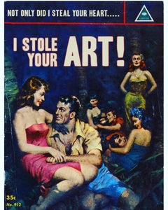 I Stole Your Art A1 limited edition print of 25 signed new collection art review