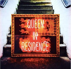 Queen in Residence Neon Red Orange 21st Century Contemporary