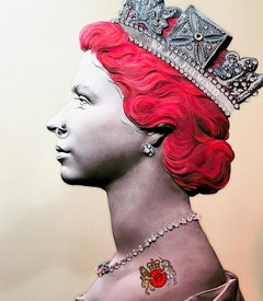 Red Punk Queen is a jewel encrusted Limited edition print Personally Signed
