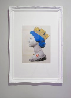 Small Baby Blue Queen Print Philip Tattoo Heart Gold Crown Limited Ed Print