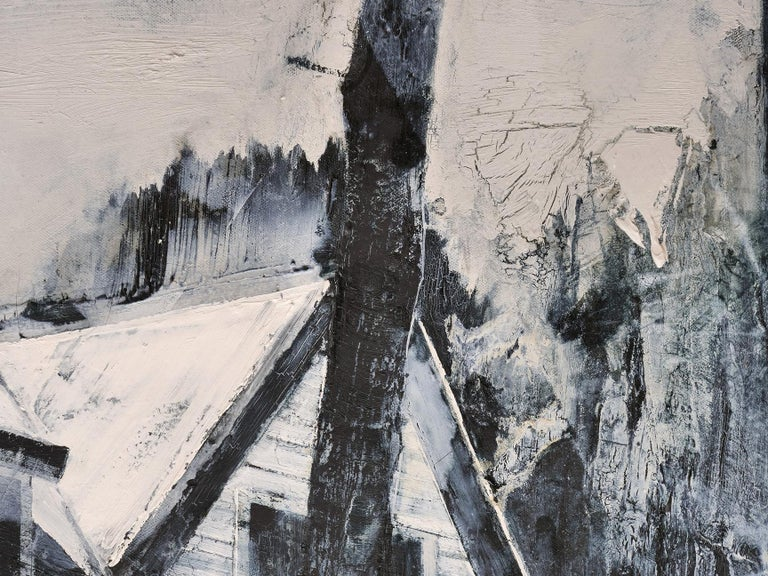 Last morning  - Black Landscape Painting by Mark Thompson