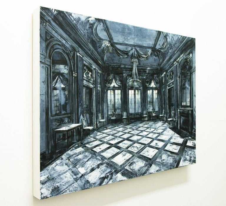 Re Imagined - Gray Interior Painting by Mark Thompson