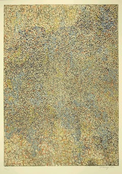 Abstract Composition - Original Lithograph by Mark Tobey - 1971