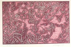 Pink Composition - Original Etching and Aquatint on Paper by Mark Tobey - 1972