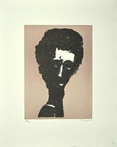 Portrait - Original Lithograph by Mark Tobey - 1970