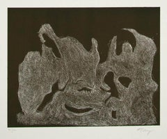 The Awakening Night - Original Etching by Mark Tobey - 1974