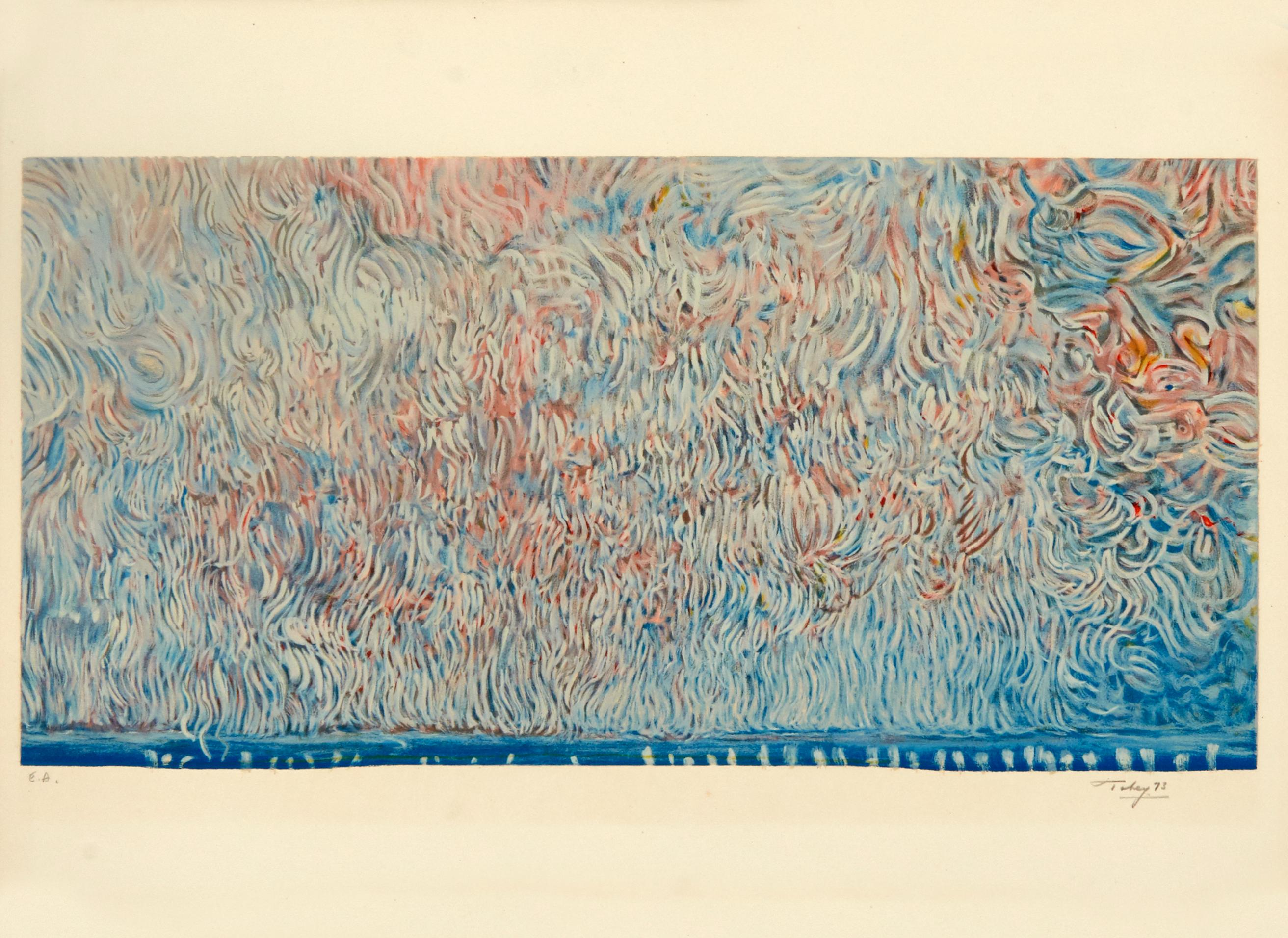 The Scroll of Liberty by Mark Tobey - color signed lithograph