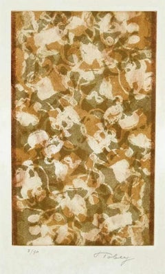 Golden Days - Original Etching and Aquatint by Mark Tobey - 1974