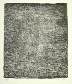 Untitled - Original Lithograph by Mark Tobey - 1970