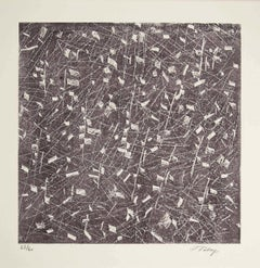 Untitled - Original Lithograph by Mark Tobey - 1970s