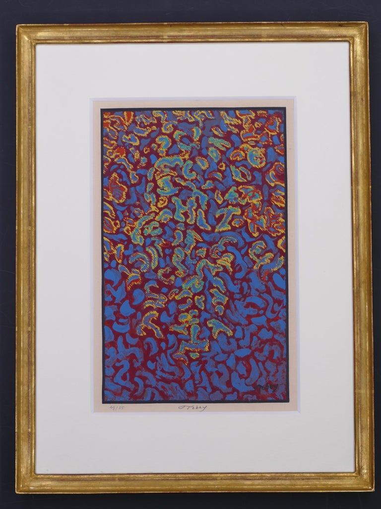 Untitled - Original Screen Print on Paper by Mark Tobey - 1970s For Sale 1