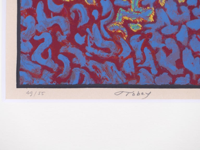 Untitled - Original Screen Print on Paper by Mark Tobey - 1970s For Sale 3