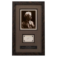 Mark Twain Twice-Signed Card