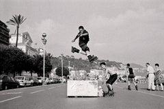'Jump!'  Promenade Des Anglais, Nice. French Riviera.