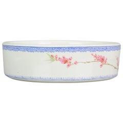Marked Chinese Porcelain 1970s-1980s ProC Brush Washer Marked Landscape