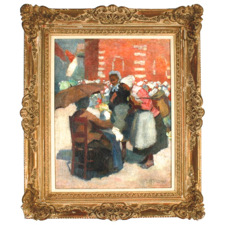 Market Day Étaples by William Holt Yates Titcomb, 1858-1930 For Sale