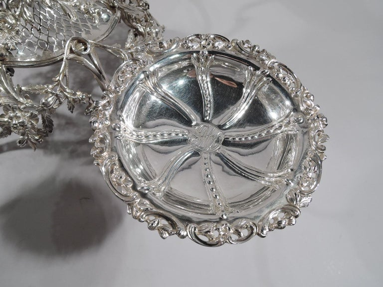 Sterling Silver Market-Fresh English Georgian Rococo Epergne by Thomas Pitts, 1766 For Sale