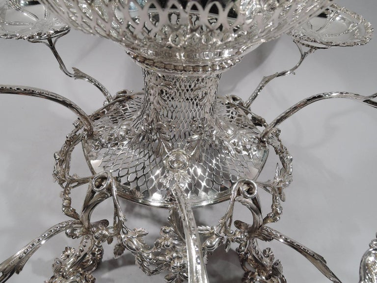 Market-Fresh English Georgian Rococo Epergne by Thomas Pitts, 1766 For Sale 1