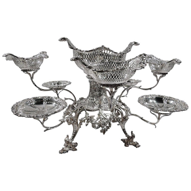 Market-Fresh English Georgian Rococo Epergne by Thomas Pitts, 1766 For Sale