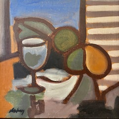 Quintessential still life by Markey. Title - Still Life with Goblet and Fruit