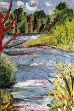 In the river, Painting, Oil on Canvas