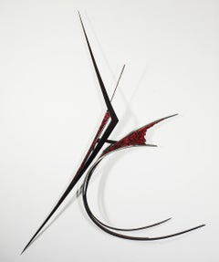 In Conversation with Marino - Large Modern Steel Wall Sculpture
