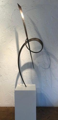 'Iron Sculpture #2,' Steel Sculpture on Base by Marko Kratohvil