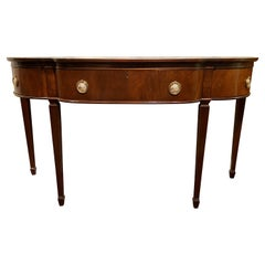 Marlboro Manor Mahogany Console Table or Server, H. Sacks & Sons, Brookline MA
