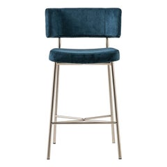 Marlen Stool, bar stool, blue, home, contract, fastfood, made in italy.