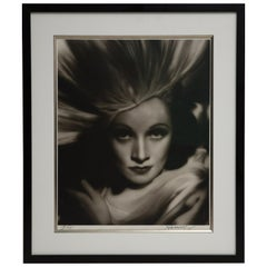 Marlene Dietrich by George Hurrell, Signed Gelatin Silver Print