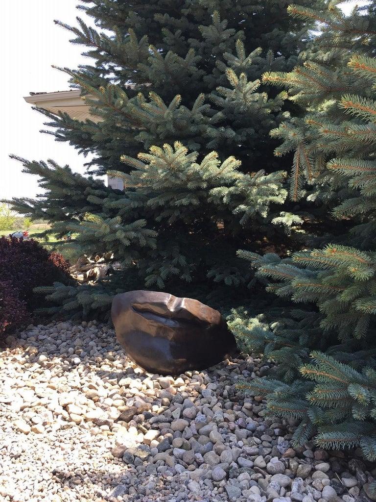 Silent - large, figurative, narrative, bronze outdoor sculpture - Sculpture by Marlene Hilton Moore