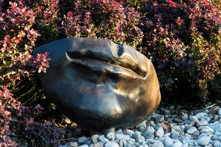 Silent - large, figurative, narrative, bronze outdoor sculpture - Contemporary Sculpture by Marlene Hilton Moore