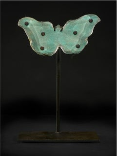 Copper Blue Butterfly with Dots